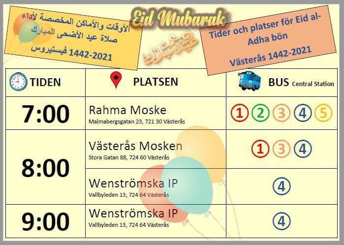 Eid Bön 20/7-2021 Västerås Moskér